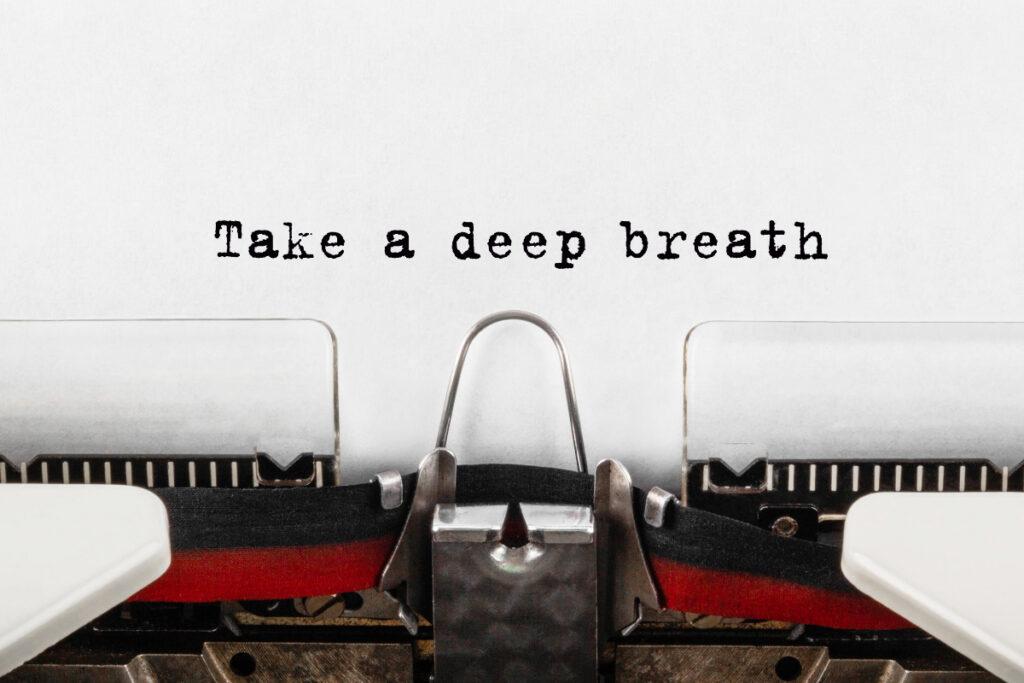 Tekst take deep breath pisany-na-maszynie. Jak zwiększyć pojemność płuc